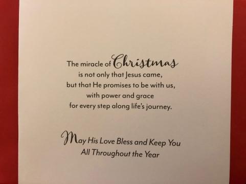 Christmas Card message edited